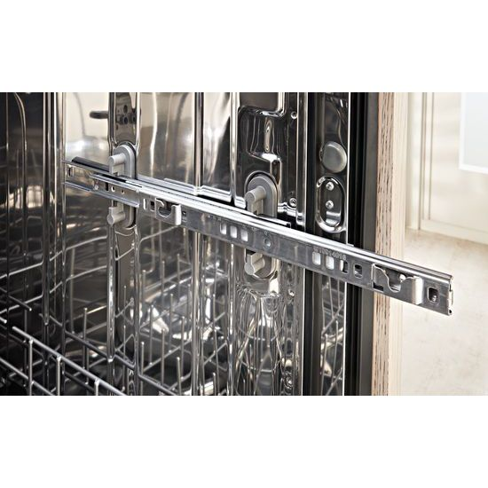 Model: KDPE234GPS | KitchenAid 46 DBA Dishwasher with Third Level Rack and PrintShield™ Finish, Pocket Handle
