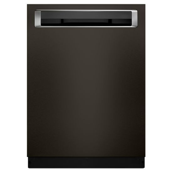 Model: KDPE334GBS | KitchenAid 39 DBA Dishwasher with Fan-Enabled ProDry™ System and PrintShield™ Finish, Pocket Handle
