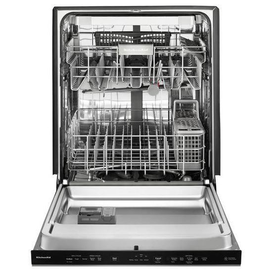 Model: KDPE334GPS | KitchenAid 39 DBA Dishwasher with Fan-Enabled ProDry™ System and PrintShield™ Finish, Pocket Handle
