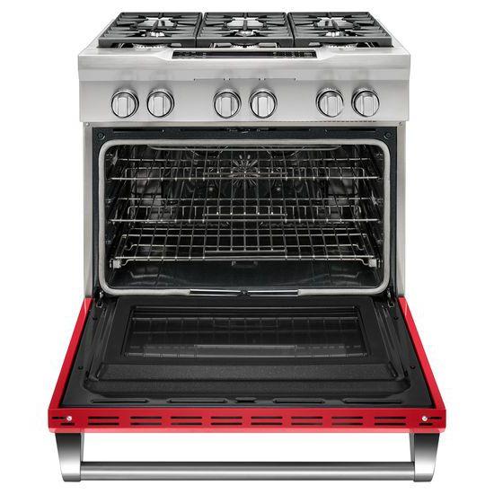 Model: KDRS467VSD   36'' 6-Burner Dual Fuel Freestanding Range, Commercial-Style
