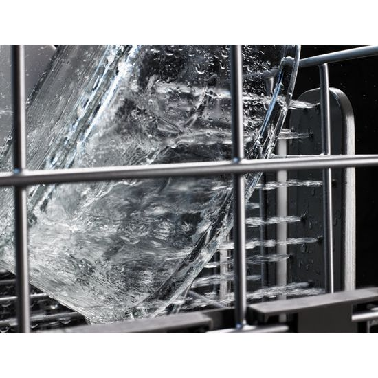 Model: KDTM404EWH | KitchenAid 44 dBA Dishwasher with Dynamic Wash Arms