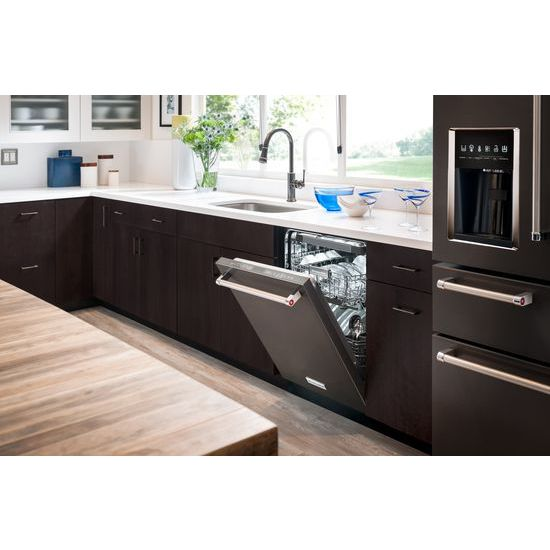 Model: KDTM704EBS | 44 dBA Dishwasher with Dynamic Wash Arms and Bottle Wash