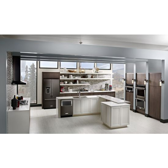 Model: KDTM804EBS | KitchenAid 44 dBA Dishwasher with Window and Lighted Interior