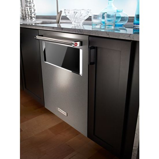Model: KDTM804ESS | KitchenAid 44 dBA Dishwasher with Window and Lighted Interior