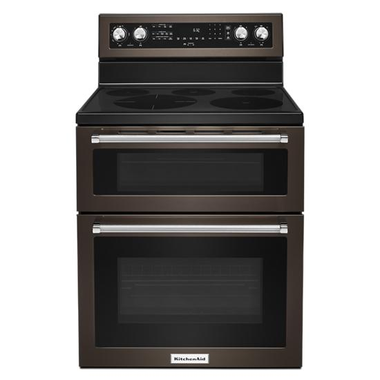 KitchenAid 30-Inch 5 Burner Electric Double Oven Convection Range