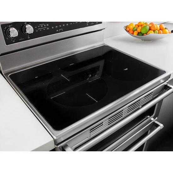 Model: KFED500ESS | KitchenAid 30-Inch 5 Burner Electric Double Oven Convection Range
