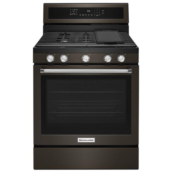 KitchenAid 30-Inch 5-Burner Gas Convection Range