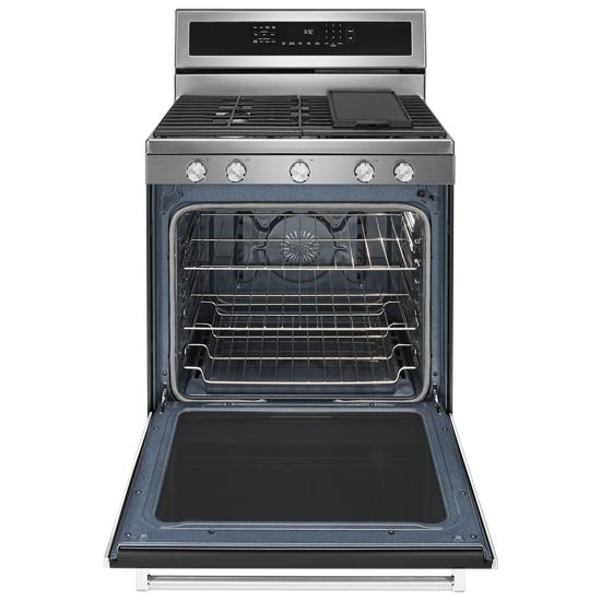 Model: KFGG500ESS | KitchenAid 30-Inch 5-Burner Gas Convection Range