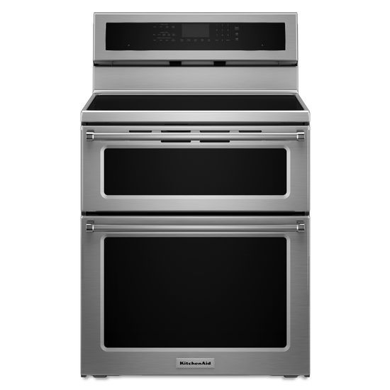 KitchenAid 30-Inch 4-Element Induction Double Oven Convection Range