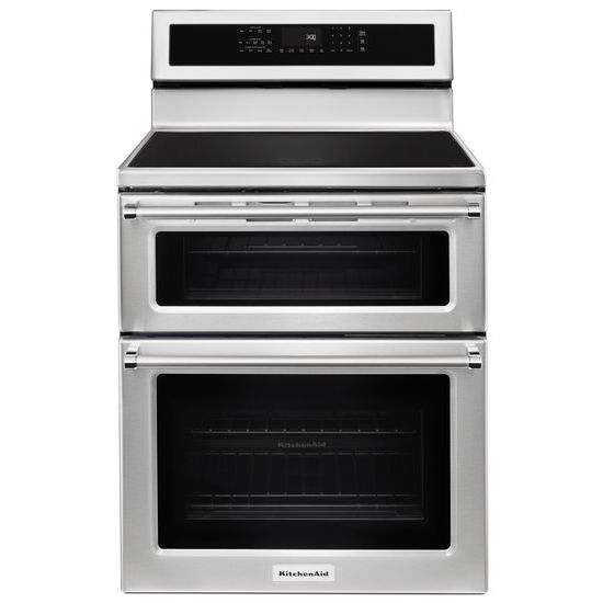 Model: KFID500ESS | KitchenAid 30-Inch 4-Element Induction Double Oven Convection Range