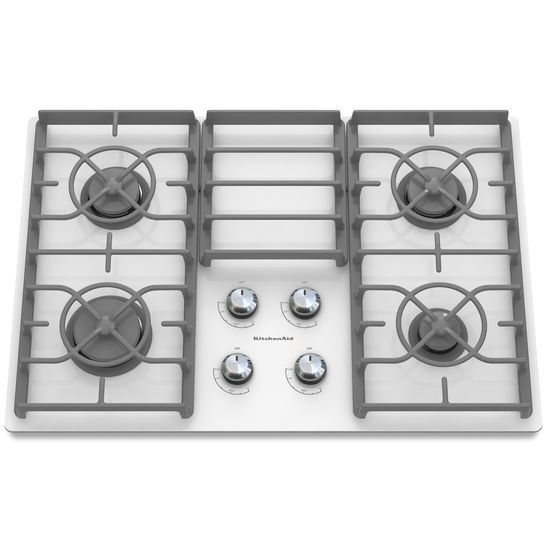 Model: KGCC506RWW | 30-Inch 4 Burner Gas Cooktop, Architect® Series II