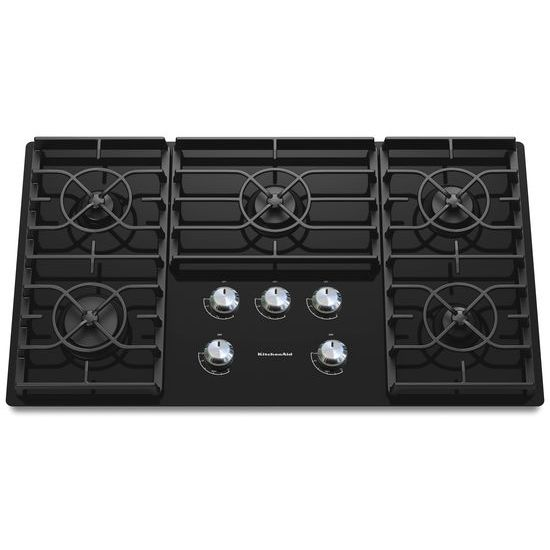 Model: KGCC566RBL | KitchenAid 36-Inch 5 Burner Gas Cooktop, Architect® Series II