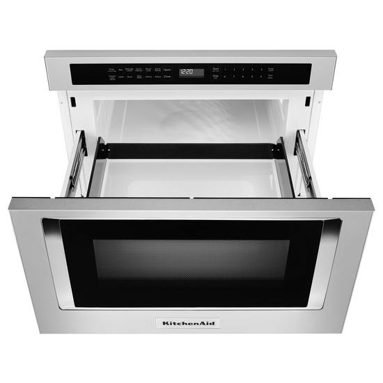 "Model: KMBD104GSS | KitchenAid 24"" Under-Counter Microwave Oven Drawer"