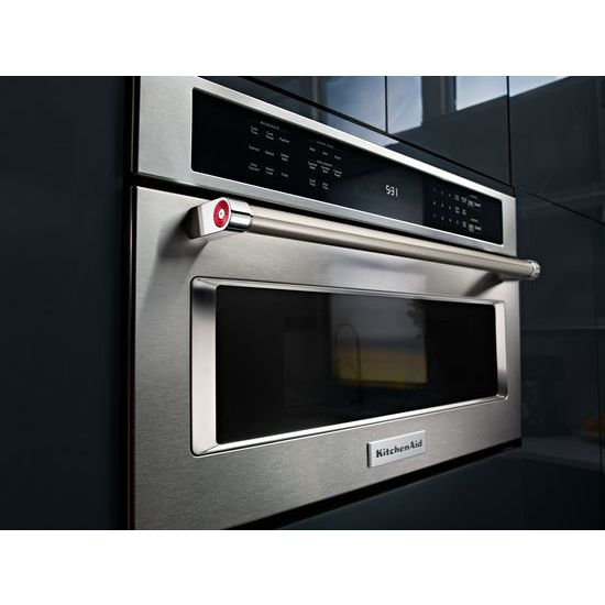"Model: KMBP107ESS | KitchenAid 27"" Built In Microwave Oven with Convection Cooking"