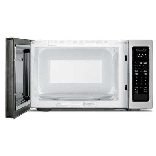 "Model: KMCS1016GSS | KitchenAid 21 3/4"" Countertop Microwave Oven - 1200 Watt"