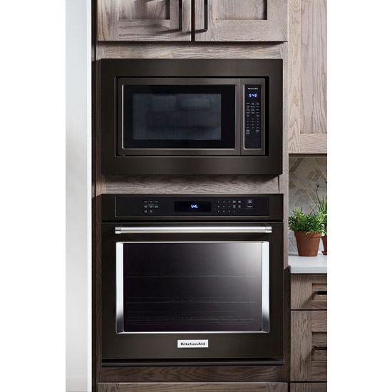 "Model: KMCS3022GBS | KitchenAid 24"" Countertop Microwave Oven with PrintShield™ Finish - 1200 Watt"