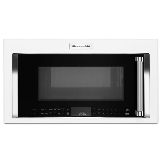 Model: KMHC319EWH | KitchenAid 1000-Watt Convection Microwave Hood Combination