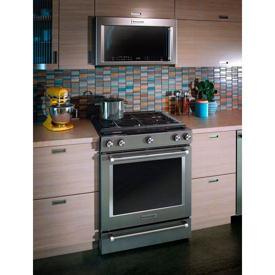 Model: KMHP519ESS | KitchenAid 1200-Watt Convection Microwave with High-Speed Cooking - 30""