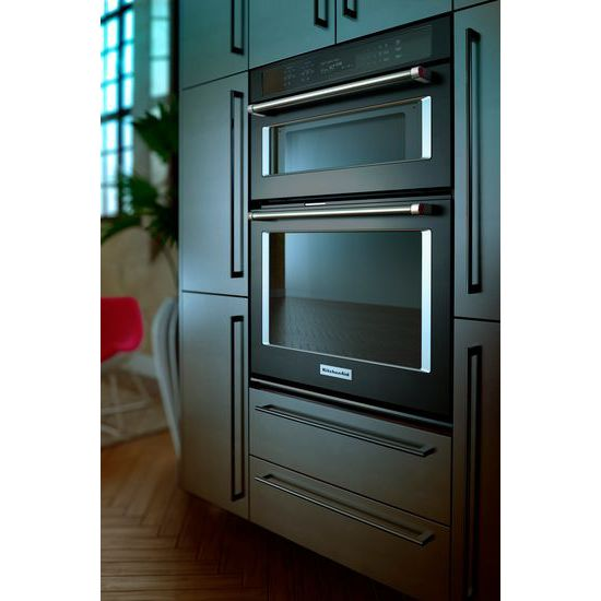 "Model: KOCE500EBS | KitchenAid 30"" Combination Wall Oven with Even-Heat™  True Convection (Lower Oven)"