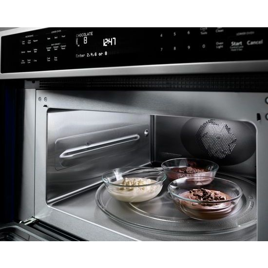 "Model: KOCE500ESS | KitchenAid 30"" Combination Wall Oven with Even-Heat™  True Convection (Lower Oven)"