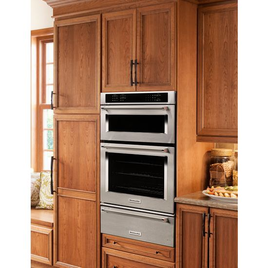 "Model: KOCE507ESS | KitchenAid 27"" Combination Wall Oven with Even-Heat™  True Convection (lower oven)"