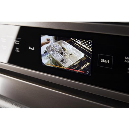 "Model: KOCE900HBS | KitchenAid Smart Oven+ 30"" Combination Oven with Powered Attachments and PrintShield™ Finish"