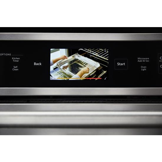 "Model: KOCE900HSS | KitchenAid Smart Oven+ 30"" Combination Oven with Powered Attachments"