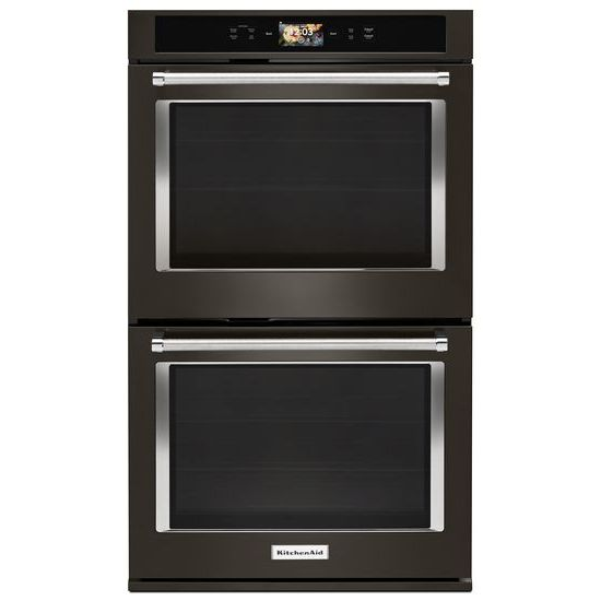 "KitchenAid Smart Oven+ 30"" Double Oven with Powered Attachments and PrintShield™ Finish"
