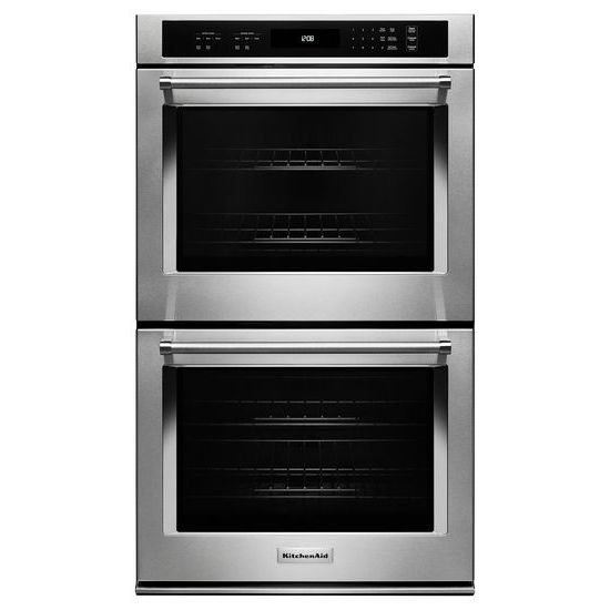 "KitchenAid 27"" Double Wall Oven with Even-Heat™ Thermal Bake/Broil"
