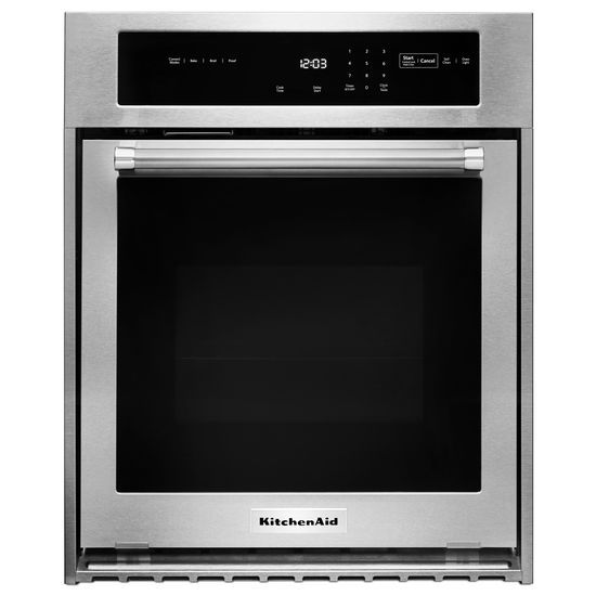 "KitchenAid 24"" Single Wall Oven with True Convection"