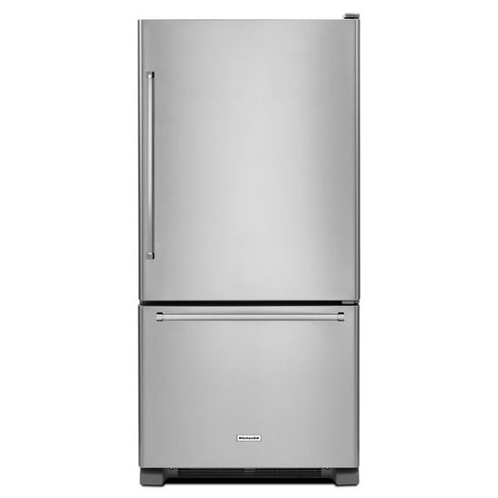 KitchenAid 22 cu. ft. 33-Inch Width Full Depth Non Dispense Bottom Mount Refrigerator