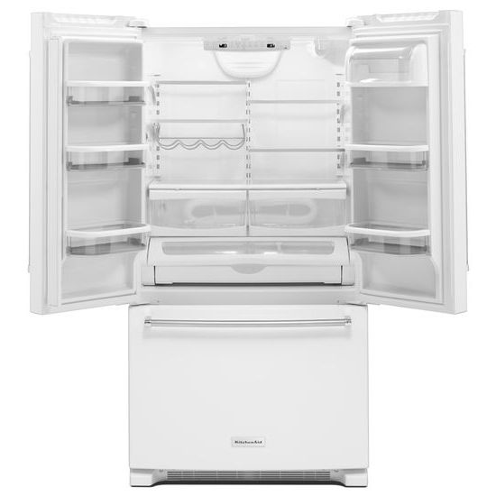 Model: KRFC300EWH | 20 cu. ft. 36-Inch Width Counter-Depth French Door Refrigerator with Interior Dispense