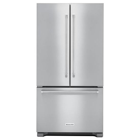 KitchenAid 22 cu. ft. 36-Inch Width Counter Depth French Door Refrigerator with Interior Dispense
