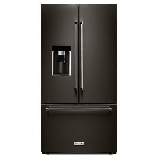 "KitchenAid 23.8 cu. ft. 36"" Counter-Depth French Door Platinum Interior Refrigerator with PrintShield™ Finish"