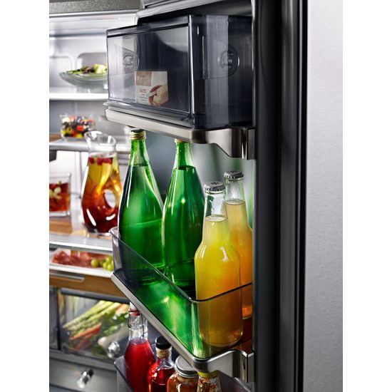"Model: KRFC704FPS | KitchenAid 23.8 cu. ft. 36"" Counter-Depth French Door Platinum Interior Refrigerator with PrintShield™ Finish"
