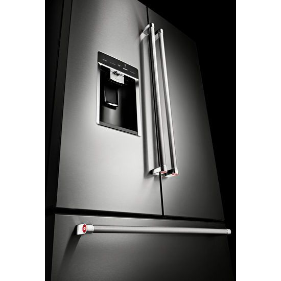 "Model: KRFC704FSS | KitchenAid 23.8 cu. ft. 36"" Counter-Depth French Door Platinum Interior Refrigerator"