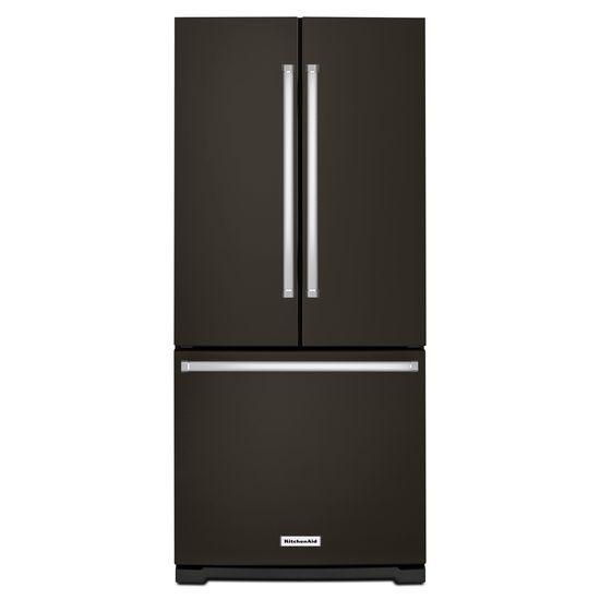 Model: KRFF300EBS | 20 cu. Ft. 30-Inch Width Standard Depth French Door Refrigerator with Interior Dispense