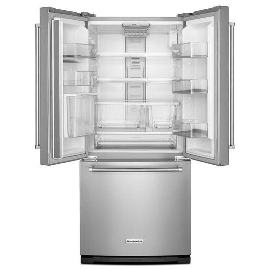 Model: KRFF300ESS | 20 cu. Ft. 30-Inch Width Standard Depth French Door Refrigerator with Interior Dispense