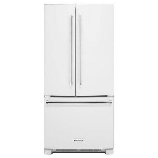 KitchenAid 22 Cu. Ft. 33-Inch Width Standard Depth French Door Refrigerator with Interior Dispenser