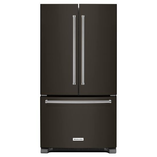 Model: KRFF305EBS | KitchenAid 25 Cu. Ft. 36-Width Standard Depth French Door Refrigerator with Interior Dispense