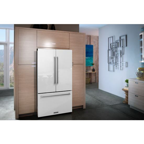 Model: KRFF305EWH | 25 Cu. Ft. 36-Width Standard Depth French Door Refrigerator with Interior Dispense