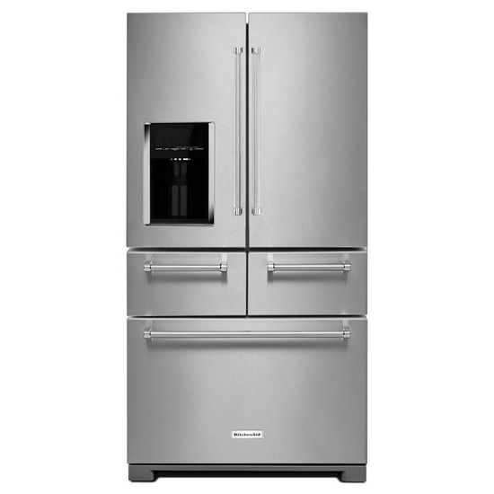 "KitchenAid 25.8 Cu. Ft. 36"" Multi-Door Freestanding Refrigerator with Platinum Interior Design"