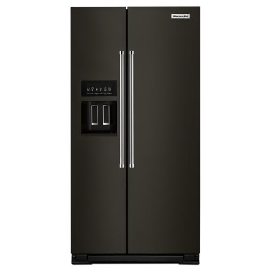 Model: KRSC503EBS | KitchenAid 22.7 Cu. Ft. Counter Depth Side-by-Side Refrigerator with Exterior Ice and Water