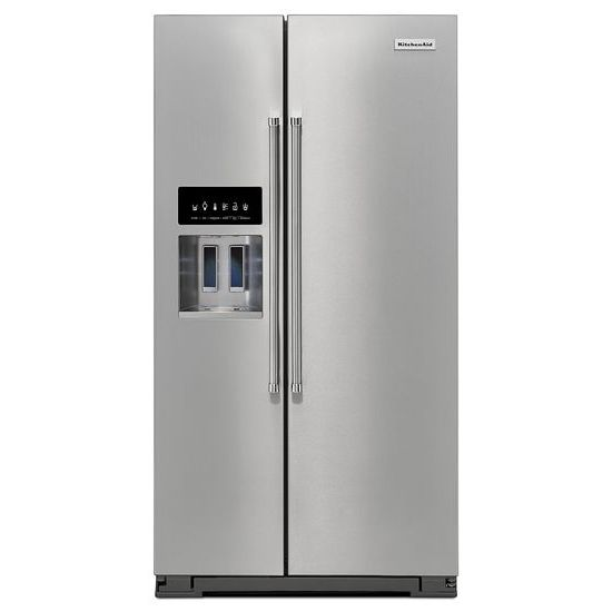 KitchenAid 24.8 Cu. Ft. Standard Depth Side-by-Side Refrigerator with Exterior Ice and Water