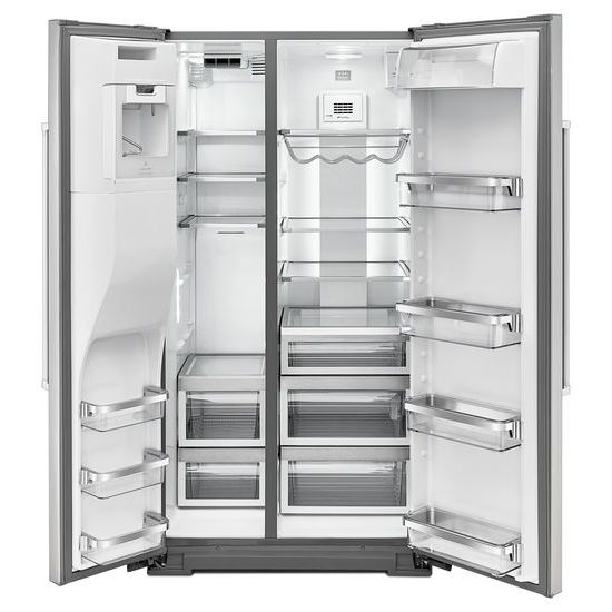 Model: KRSF505ESS | 24.8 Cu. Ft. Standard Depth Side-by-Side Refrigerator with Exterior Ice and Water