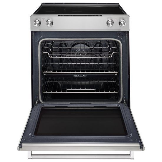 Model: KSEG700ESS | 30-Inch 5-Element Electric Slide-In Convection Range