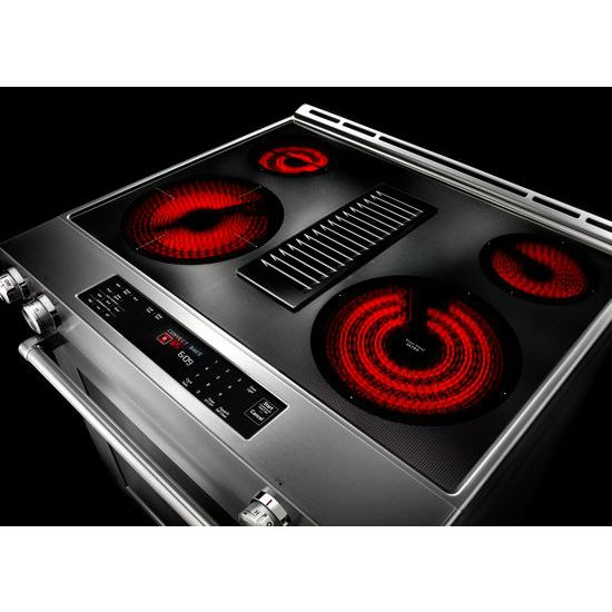 Model: KSEG950ESS | KitchenAid 30-Inch 4-Element Electric Downdraft Slide-In Range
