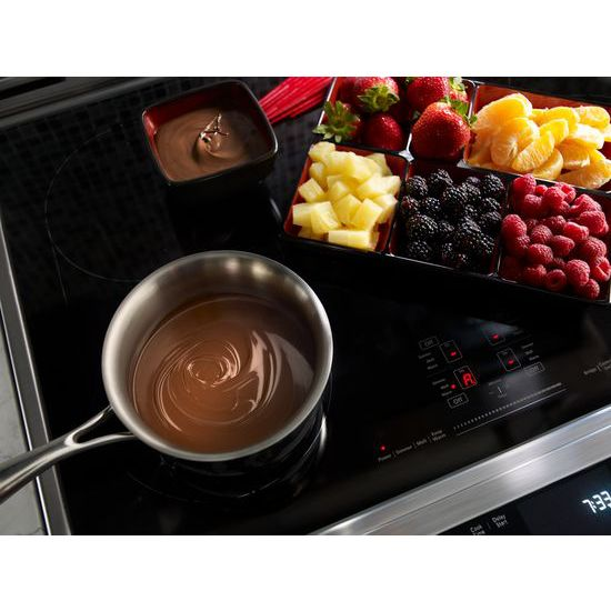 Model: KSIB900ESS | 30-Inch 4-Element Induction Slide-In Convection Range with Baking Drawer