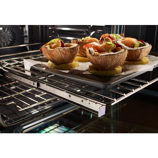 Model: KSIB900ESS | KitchenAid 30-Inch 4-Element Induction Slide-In Convection Range with Baking Drawer