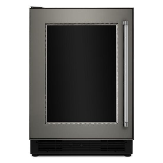 "Model: KUBL204EPA | KitchenAid 24"" Panel Ready Beverage Center with Glass Door"